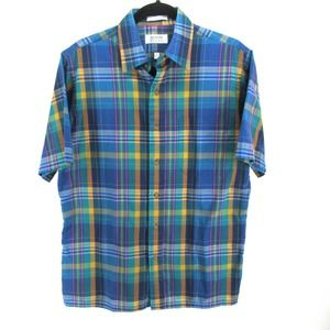 Vintage 80s 90s Arrow Sport Plaid Button Up